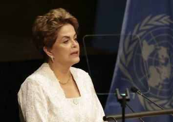 Dilma Rousseff  at the Climate Change meeting at the UN