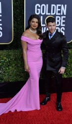Priyanka Chopra Jonas and Nick Jonas attend  the 77th Golden Globe Awards in Beverly Hills