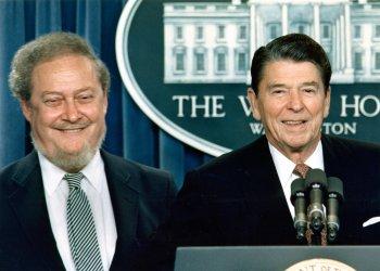 President Ronald Reagan nominates Judge Robert Bork to U.S. Supreme Court