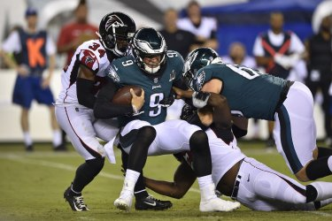 Eagles' Nick Foles is sacked