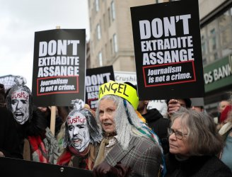 Free Julian Assange Demo in London