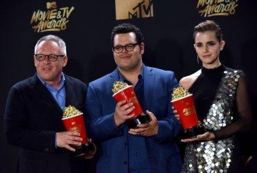Bill Condon, Josh Gad and Emma Watson win awards at the 2017 MTV Movie & TV Awards in Los Angeles