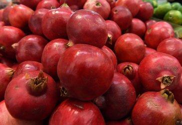 A Vendor Sells Pomegranates For Rosh HaShanah, Jewish New Year In Jerusalem