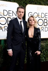 Dax Shepard and Kristen Bell attend the 74th annual Golden Globe Awards in Beverly Hills