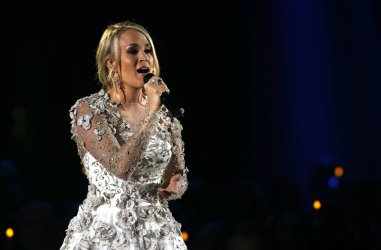 Carrie Underwood performs at the 2017 CMA Awards in Nashville