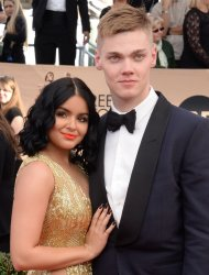 Ariel Winter and Levi Meaden attend the 23rd annual SAG Awards in Los Angeles