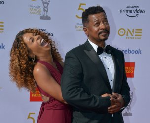 Skye Townsend and Robert Townsend attend the 50th NAACP Image Awards in Los Angeles