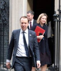 Matt Hancock leaves No.10 Downing St for Houses of Parliament