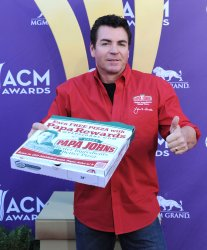 Papa John's Pizza CEO John Schnatter arrives at the Academy of Country Music Awards in Las Vegas