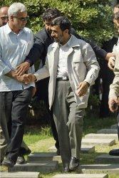 IRAN'S PRESIDENT MAHMOUD AHMADINEJAD ATTENDS IN WEEKLY FRIDAY PRAYER