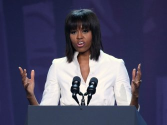 Michelle Obama speaks at Kids' Inaugural