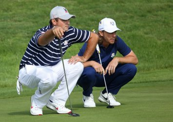 Patrick Reed and Tommy Fleetwood at the Ryder Cup 2018