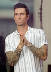 Adam Levine and Maroon 5 on the NBC Today Show in New York