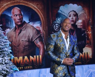 """Dwayne Johnson attends the """"Jumanji: The Next Level"""" premiere in Los Angeles"""