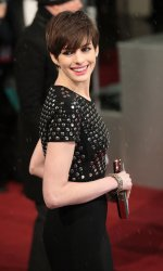 Anne Hathaway arrives at the Baftas Awards Ceremony