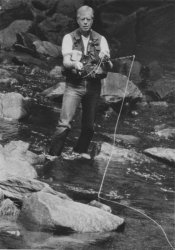 President Jimmy Carter fishes at Camp David