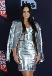 Demi Lovato appears backstage at the iHeartRadio Music Awards in Inglewood, California