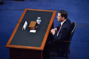 Former FBI Director Comey Testifies on Capitol Hill in Washington