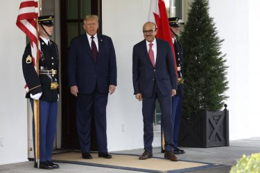 Donald Trump welcomes Bahrain Foreign Minister to Washington