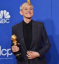Ellen DeGeneres wins an award at the 77th Golden Globe Awards in Beverly Hills