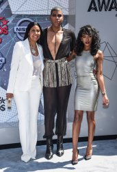 Cookie Johnson, Elisa Johnson and EJ Johnson attend the BET Awards in Los Angeles