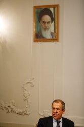 Iran's President Mahmoud Ahmadinejad Meets Russian Foreign Minister Sergei Lavrov in Tehran