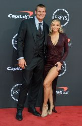 Rob Gronkowski and Camille Kostek attend the 27th annual ESPY Awards in Los Angeles