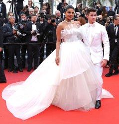 Priyanka Chopra and Nick Jonas attend the Cannes Film Festival