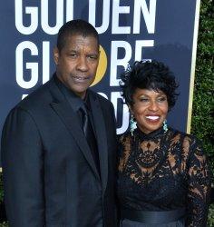Denzel Washington and Pauletta Washington attend the 75th annual Golden Globe Awards in Beverly Hills