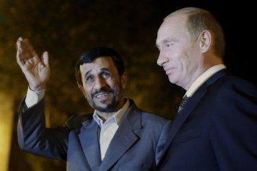 Russian President Vladimir Putin leaves Tehran
