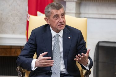 President Trump welcomes the Czech PM Andrej Babiš to the White House