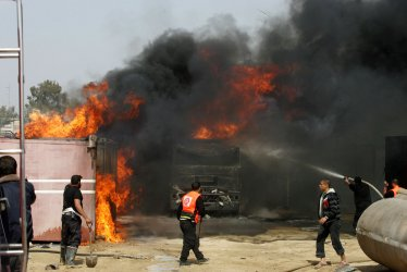 Israeli Air Strikes in Gaza Target Hamas