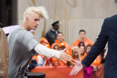 Justin Bieber on the NBC Today Show