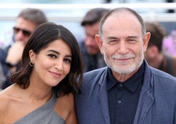 Leila Bekhti and Lorenzo Mattotti attend the Cannes Film Festival
