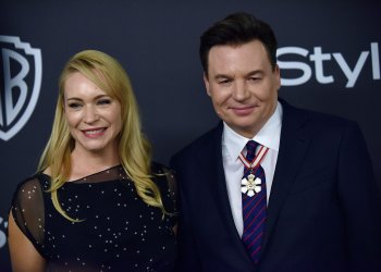 Mike Myers attends Instyle/Warner Bros. Golden Globes party