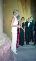 Princess Diana attends gala event in support of breast cancer research