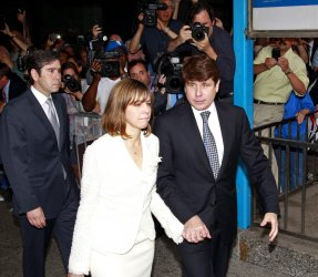 Blagojevich leaves the Court after hearing verdict in Chicago