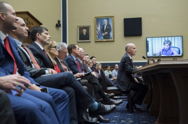 Richard Smith, former Chairman and CEO, Equifax Inc., testifies on Capitol Hill