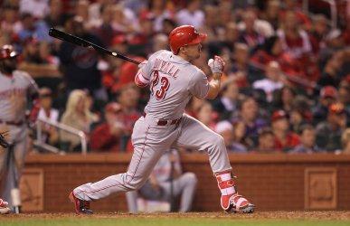 Cincinnati Reds Adam Duvall hits three run home run