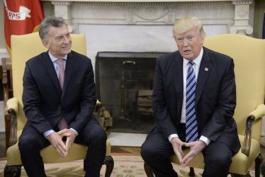 President Trump meets with President Mauricio Macri of Argentina