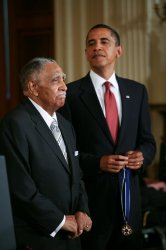 President Obama presents the Presidential Medal of Freedom to Reverend Joseph Lowery in Washington