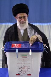 Iran's Supreme Leader casts his vote for second round of parliamentary elections