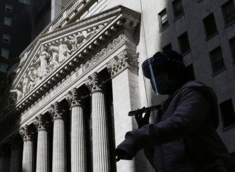 New York Stock Exchange during COVID-19 pandemic in New York