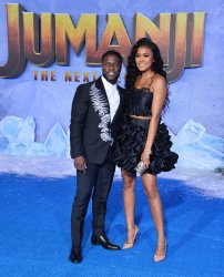 """Kevin Hart and Eniko Parrish attend the """"Jumanji: The Next Level"""" premiere in Los Angeles"""