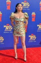 Lana Condor attends the MTV Movie & TV Awards in Santa Monica, California