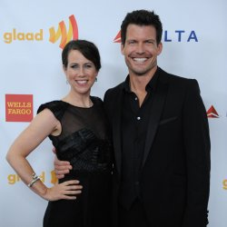 Miriam Shor and Mark Deklin attend the 23rd annual GLAAD Media Awards in Los Angeles
