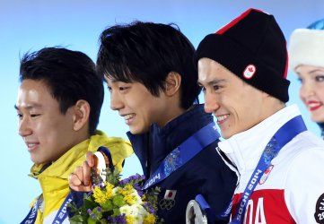 Medal ceremony during the Sochi 2014 Winter Olympics