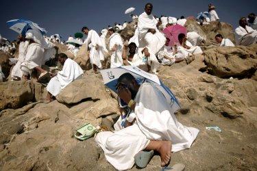 Muslims pilgrims in Mecca for Hajj