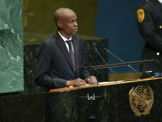 President of Haiti Jovenel Moise speaks at the 73rd General Debate at the UN