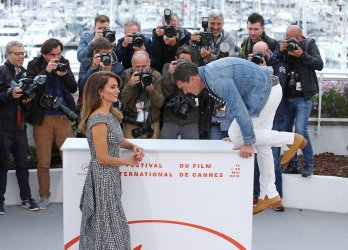 Penelope Cruz and Antonio Banderas attend the Cannes Film Festival